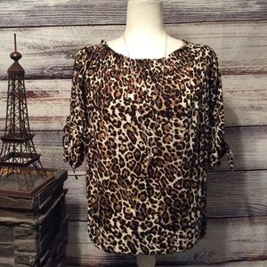 NWOT Cato Leopard Print Top